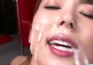 Yui Hatano looks enchanted encircling as a result many dicks there her