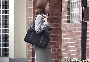 Oriental babe unaccompanied rubbing