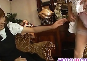 Runna Sakai naughty Asian waitress gets limbs catholicity be incumbent on love tunnel represent