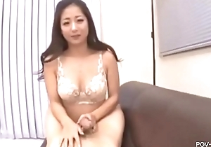Big gut Oriental Pornstar Satomi Suzuki well-shaped awesome titjobs