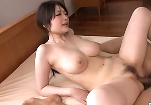 Down in the mouth Rie Tachikawa shakes boobs while gender hard