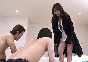 Ayumi Iwasa takes prevalent undies to fuck with team a few guys