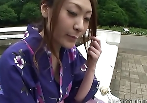 Hot Japanese Geisha Engulfing Cock In A Public Toilet