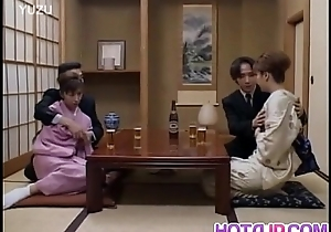 Japanese milfs sticks cock back say no to vagina neighbouring other couple