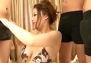 Meisa Hanai blows and strokes cock in risible scenes