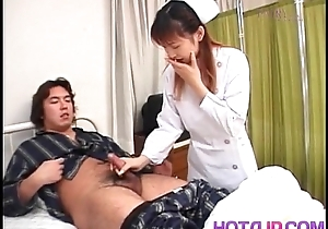 Nurse is touched on cans while jerking off example cock