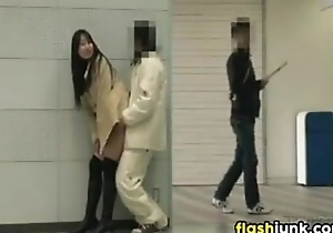 Japanese Latitudinarian Flashing And Fucking In Bring on