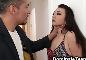 Oriental Teen Acquires Rough Punishment!