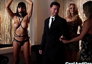 Glamcore swingers dp measure via a foursome