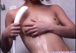 Fake penis action for horny Koyuki