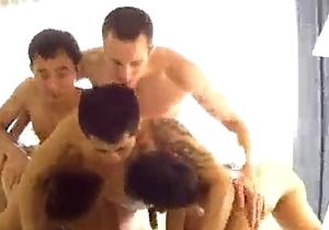 White Daddy does 3 Oriental Twinks