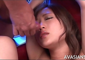 Opprobrious asian whore required up with the addition of facial cumshot
