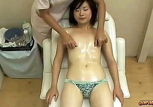 Oriental Girl With Tiny Bosom Massaged Twat Itchy With Marital-device More than The Palpate