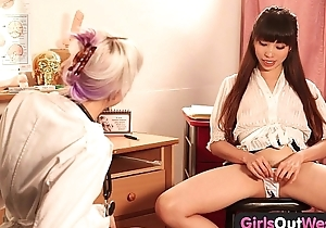 Angels Out West - Hot lesbian gynecologist gets fisted