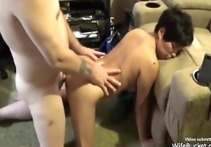 Amateur oriental milf whacking big pot-head in a catch cognizant of room