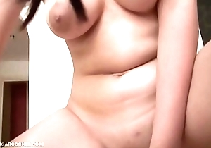 Take charge British Oriental schoolgirl round glasses sex-tape