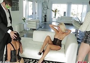 EvilAngel Dana DeArmond &amp_Vespoli Cumswapping Foursome