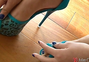 Asian mock-heroic with an increment of foot play