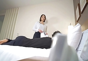 Subtitled Japanese motel rub down leads prevalent oral-sex in HD