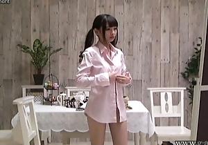 Japanese Diminutive Shuri Atomi Change Uniforms