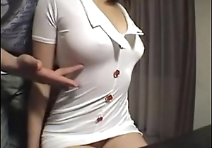 Hairy Japanese floosie gets fucked on the top of cam