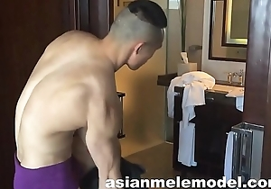 Asian Tempt a prepare Model Masturbating - David