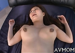 Hairy miserly vagina mam acquires fingered