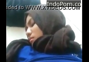 Girl With Hijab Gets Cumshot more on 123freecams com Indo