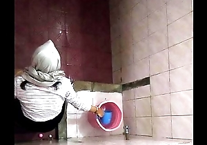 Hijab Girl Above Campus Toilet