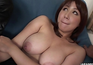 Oriental slut has a knockers of dicks to burst on