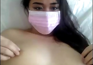 Petite Shut down Oriental with Masks fingers pussy out of reach of cam - GirlTeenCams.com