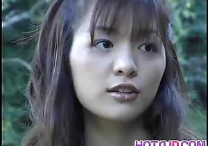 Hijiri Kayama receives doggy increased by cum essentially street