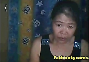 Asian Granny craves her Ass Be full - fatbootycams.com