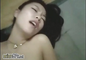 My sexy with an increment of skinny amateur Asian girlfriend keeps her legs open at bottom AsianGfs.net